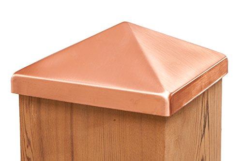 Solid Copper 6x6 Pyramid Post Cap (5-1/2')