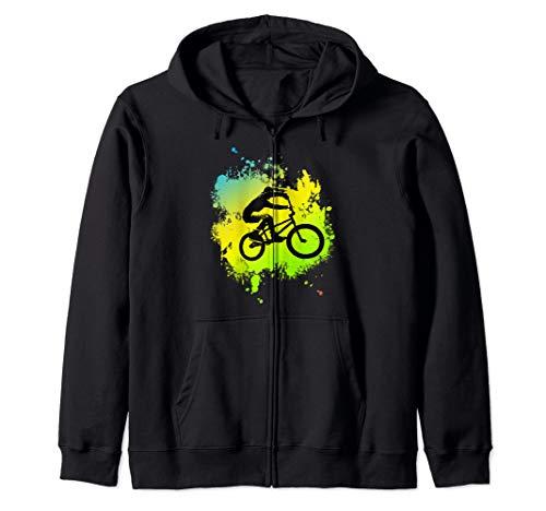 ideal Bmx Mountain Bike Geschenk für Downhill & Fahrrad Fans Kapuzenjacke