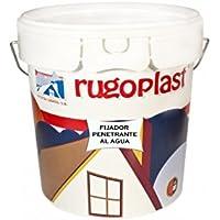 Pintura fijadora penetrante al agua a base de resinas para fijar superficies de yeso, cemento, escayola y derivados. Es una imprimación previa a la aplicación de pinturas en paredes (4 L) Envío GRATIS