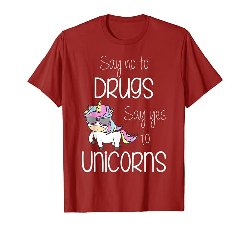 Di No A Las Drogas Dicen Sí A Unicornios Cinta Roja Semana Unicornio Camiseta