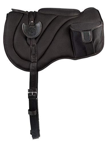 PFIFF 102501 Reitpad mit Taschen, schwarz (Pony)