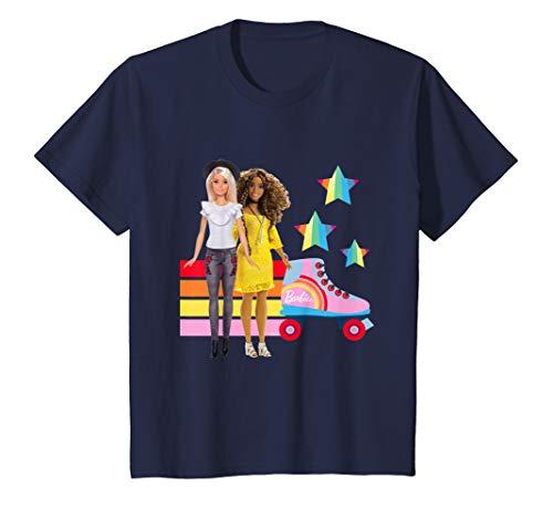 Kinder Barbie T-Shirt, Rollschuh, BFF, viele Größen+Farben