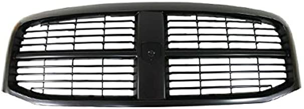 Partomotive For 06-09 Ram Pickup Truck Front Grill Grille Assembly Black CH1200280 5JY121SPAF