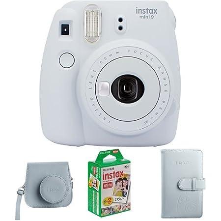 Fujifilm Instax Mini 9 Geschenkset Smoky Weiß Kamera