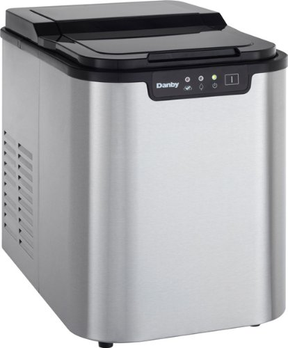 Danby DIM2500SSDB Portable Ice Maker, Countertop Ice Machine Makes 25 lbs of Ice A Day,LED Controls & Self-Clean Mode