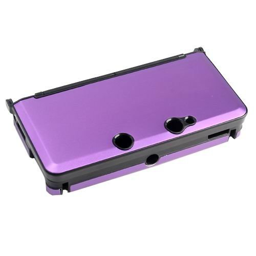 NINTENDO 3DS 콘솔 컬러 퍼플용 OSTENT 충격방지 하드 알루미늄 금속 박스 커버 케이스 쉘 호환