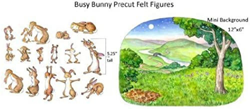 Busy Bunny Felt Figures for Flannelboard Stories-precut and Ready to Use  by Story Time Felts