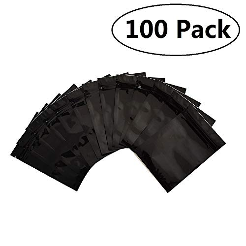 100 Pack Smell Proof Bags 3x4 inch, Resealable Mylar Bags Food Safe Material ZipLock Food Storage Pouch
