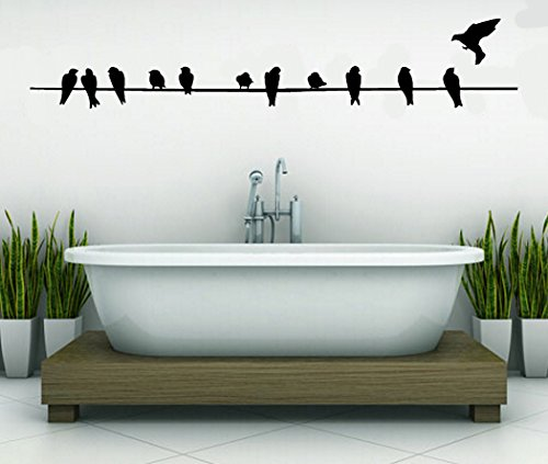 Birds On A Wire-Home Decor-Wall Sticker Decal-Wall Art-Wall ...