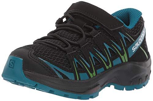 Salomon Kinder XA Pro 3D K, Trailrunning-Schuhe, schwarz (black / deep lagoon / onlime lime), Größe 29