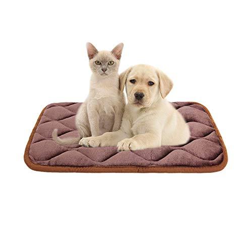 Furrybaby Dog Bed Mat Soft Crate Mat with Anti-Slip Bottom Machine Washable Pet Mattress for Dog Sleeping (S 24x18'', Dark Brown Mat)