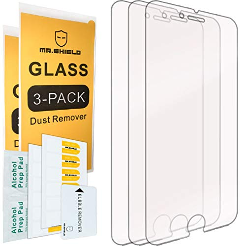 [3-PACK]-Mr.Shield Designed For iPhone 6 Plus/iPhone 6S Plus [Tempered Glass] Screen Protector with Lifetime Replacement