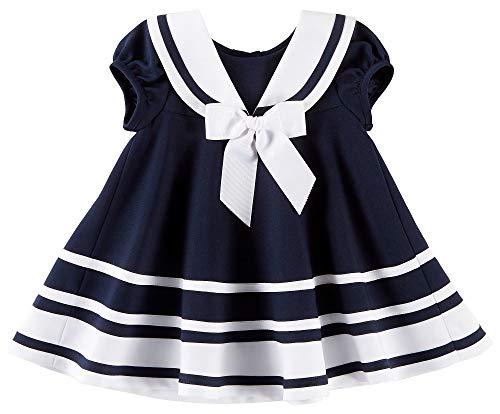 Bonnie Jean Baby Mädchen Matrosenkleid inkl. Windelhöschen Gr. 56,62,68,74,80,86,92,98,104 Größe 62