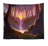 Naturaleza árbol bosque tapiz colgante de pared paisaje tapiz de pared fondo de pared familiar tela colgante tapiz de tela A4 73x95cm