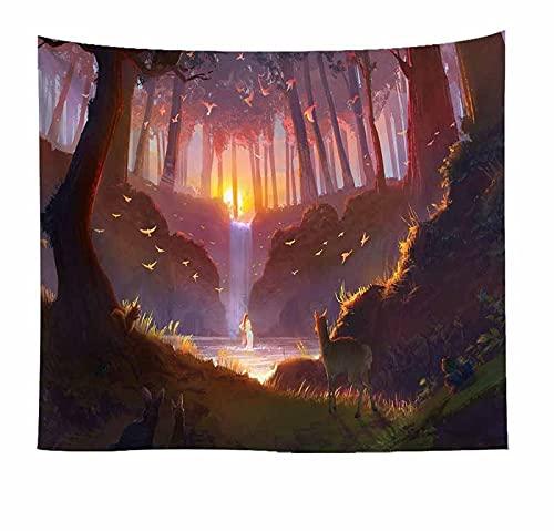 Naturaleza árbol bosque tapiz colgante de pared paisaje tapiz de pared fondo de pared familiar tela colgante tapiz de tela A4 130x150cm
