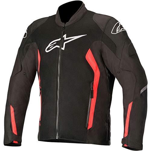 Alpinestars Chaqueta moto Viper V2 Air Jacket Black Red Fluo, Negro/Rojo, L