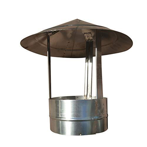 LTLWSH Sombrero Galvanizado para Estufa Sombrero Extractor Cubierta de Chimenea, Sombrero de Chimenea Cubierta de Chimenea para Estufa Redonda Fine, Cubierta de Lluvia Cubierta,400mm