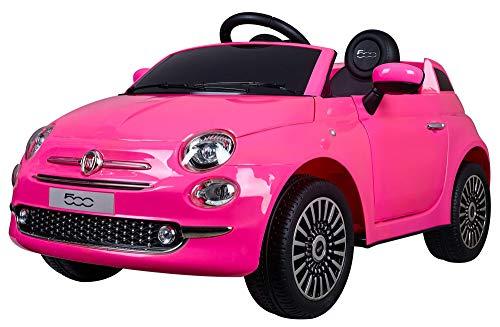 giordanoshop Macchina Elettrica per Bambini 12V Fiat 500 Rosa