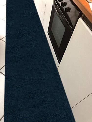 M.Service Srl Tappeto/Passatoia Multifunzione in Moquette - sotto lavello - Adatto per Cucina e Bagno - Antiscivolo - Elevata Resistenza - Mis. h 67 x 300 cm (Blu)