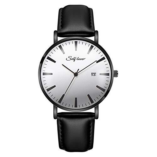 Eotifys Reloj Relojes Hombres Relojes de Pulsera Cuarzo Correa Deportiva Calendario Completo Reloj de Moda Casual Simple