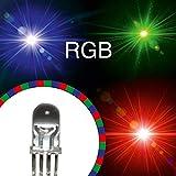 Lumetheus Diodi LED 5mm RGB 50 pezzi Rosso = 400 mcd/Verde = 1500 mcd/Blu = 700 mcd 2-3 V ...