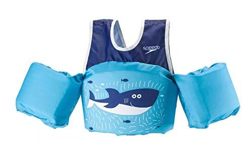 Speedo Kids' UPF 50+ Begin to Swim Printed Neoprene Swim Vest (Ultra Blue)