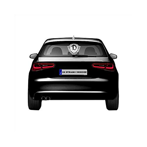 SG Dynamo Dresden Auto-Scheibenaufkleber Dynamo Logo 30 cm Silber, Aufkleber:Außenklebend
