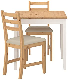 Ikea Table and 2 chairs, light antique stain, Vittaryd beige 16202.2238.226