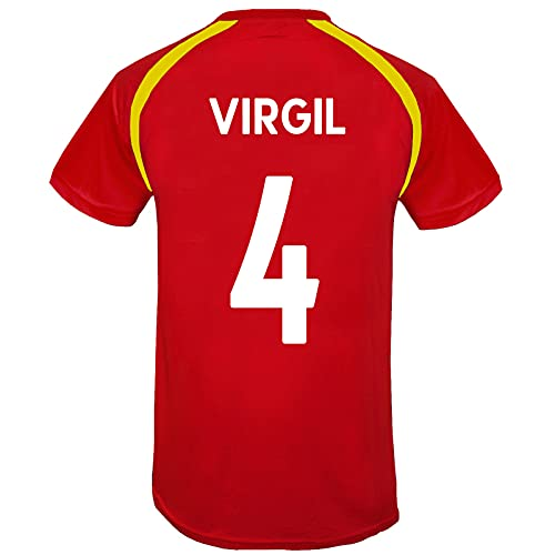 Liverpool FC - Herren Trainingstrikot - Offizielles Merchandise - Rot - LFC Virgil 4 - L