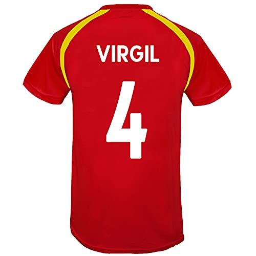 Liverpool FC - Camiseta Oficial de Entrenamiento - para Hombre - Poliéster - Rojo LFC - Virgil 4 - XL