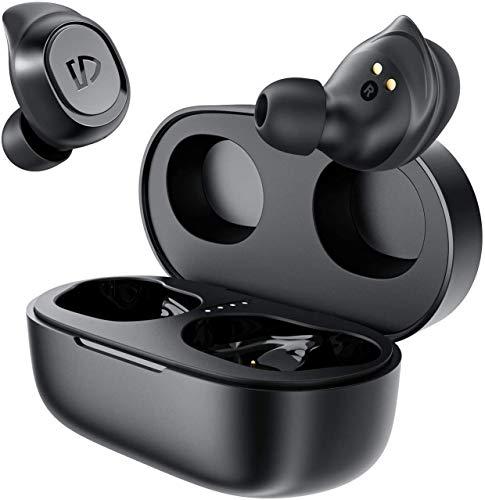 SoundPEATS Cuffie Bluetooth 5.0 IPX7 Impermeabile, Auricolari Bluetooth Senza Fili, TWS Cuffie Sportive in-ear Stereo, 20 Ore di Riproduzione Cuffie Wireless con Microfono, Ricarica con Type-C