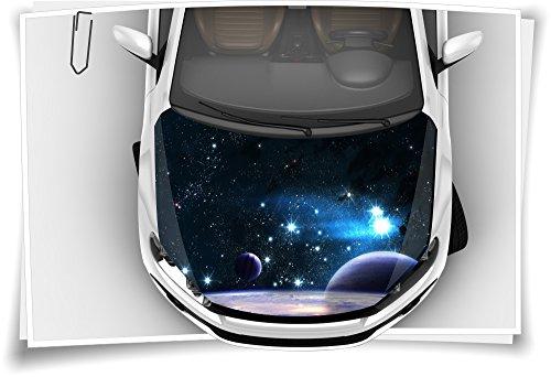 Medianlux Weltall Planet Motorhaube Auto-Aufkleber Steinschlag-Schutz-Folie Airbrush Tuning Car-Wrapping Luftkanalfolie Digitaldruck