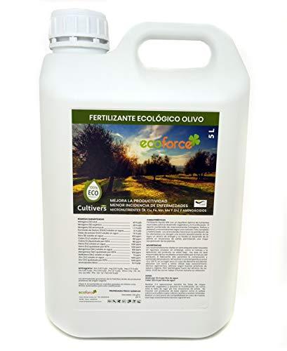 CULTIVERS Fertilizante Ecológico para Olivo Líquido de 5 L. Abono 100% Orgánico...