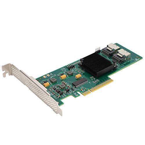 Disco rígido de 8 portas, Jadpes 9211-8i 2008E 6Gbps 8-Port 4T Disco rígido para placa de controle Raspberry Pi 3 Modelo B+/3 Modelo B/ ROCK64