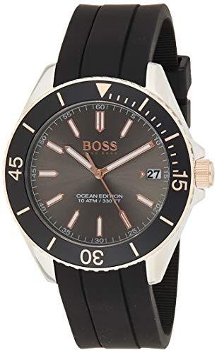 Hugo Boss Unisex Analog Quarz Uhr mit Silikon Armband 1513558