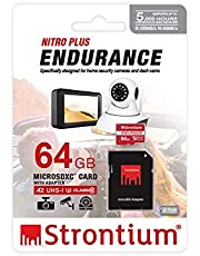 STRONTIUM 64GB Nitro Plus Endurance A2 MicroSDXC Card with SD Adapter