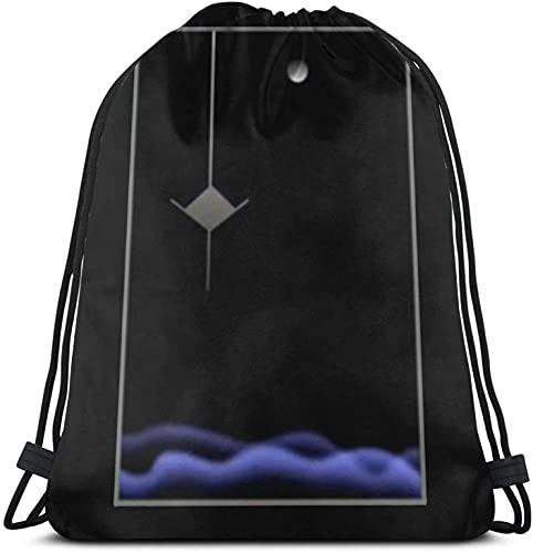 XCNGG Poirot - Mochila con cordón con diseño de ilustraciones, paquete de saco de gimnasio, paquete de cincha sólido, saco Sinch, bolsa deportiva con bolsillo, bolsa de playa, regalo para hombres y mu