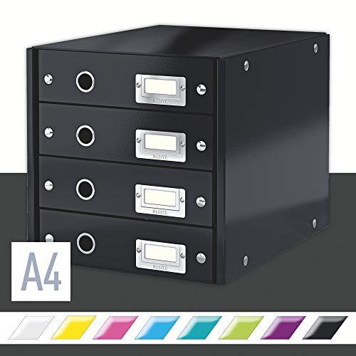 Leitz Click & Store Schubladenset, 4 Schubladen, A4, schwarz, 60490095