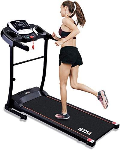 Merax BTM Treadmill Electric Folding Treadmill,12 Preset Programs,LED Display,USB & Speakers,98% Assembled