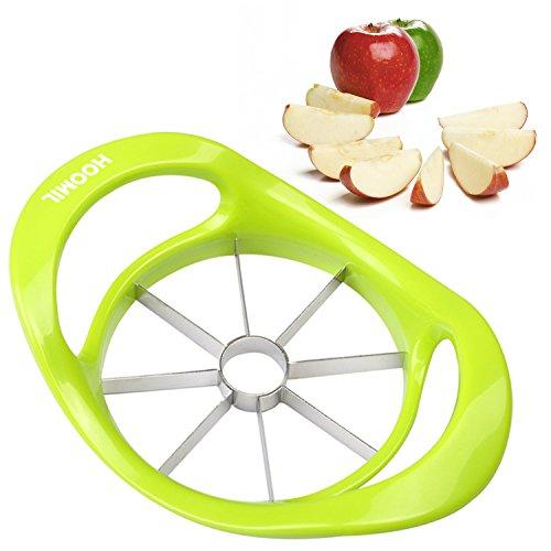 HOOMIL Cortador de Manzana de Acero Inoxidable de Fruta Cuchillas de Corte Con Forma de La Manzana Corer - H3116 (Verde)