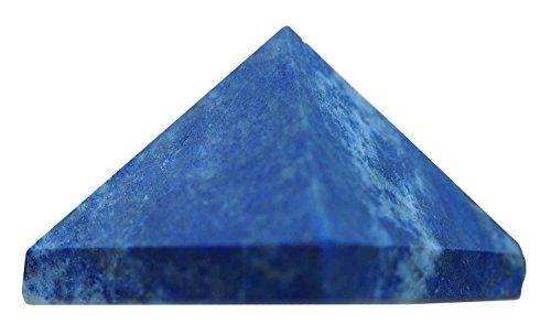uGems Lapis Lazuli Pyramid Carved Genuine Small 1 inch