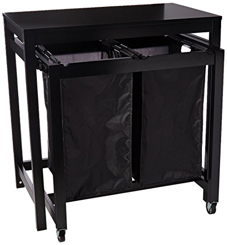 Honey-Can-Do SRT-03571 Double sorter Folding Table, 19 by 32-Inch, Black