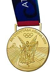 Reproducción de Emblema conmemorativo olímpico, Juegos Olímpicos de Atenas 2004 en Grecia Medalla de Oro, Medalla de aleación de Zinc, Medalla de Colección