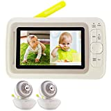 Best Dual Baby Monitors - Moonybaby Split 60 Video Baby Monitor 2 Cameras Review
