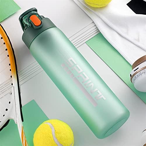 Botella de Agua Deportiva de 550 ml / 750 ml con Filtro BPA Botellas de plástico Mate portátiles portátiles gratuitos Duradero Webware ecológico (Color : 750ml Green)