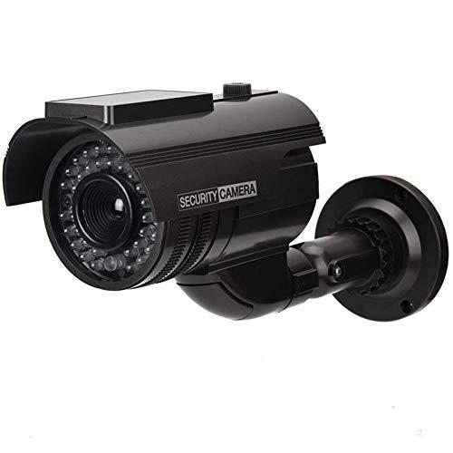 XINGXINGNS Professionelle Überwachungskameras Dummy Outdoor Kameras Dummy Kamera Attrappe mit Objektiv und Blinkled Videoüberwachung Warensicherung für Innen- und Außenbereich,Schwarz