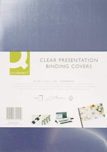 Einbanddeckel A4 250mic transp CONNECT KF24011 100St. Kristallklare Umschlagfolie für Plastik- & Drahtbindung. Abdeckfolie.