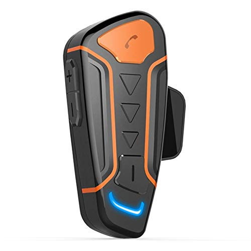 XBJSY Casco De La Motocicleta Intercomunicador Montaje Bluetooth Interphone Auriculares Impermeable Walkie-Talkie con FM Radio GLZERJ (Color : Black)