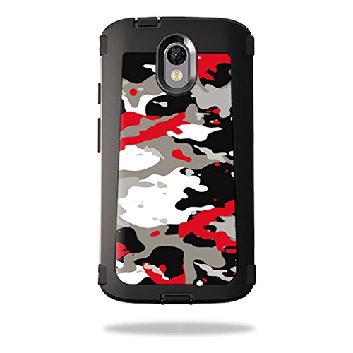 MightySkins Skin Compatible with OtterBox Defender Motorola Droid Turbo 2 Case wrap Cover Sticker Skins Red Camo
