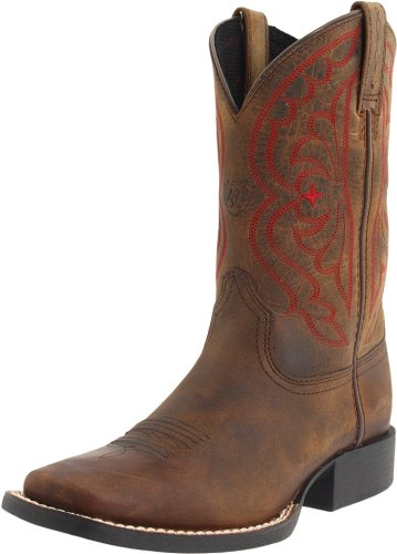 ARIAT unisex child Crossfire Western Boot, Brown Oiled Rowdy/Turquoise, 6 Big Kid US